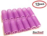 UrbHome Small Hair Rollers, Self Grip, Salon Hairdressing Curlers'12 Pack'