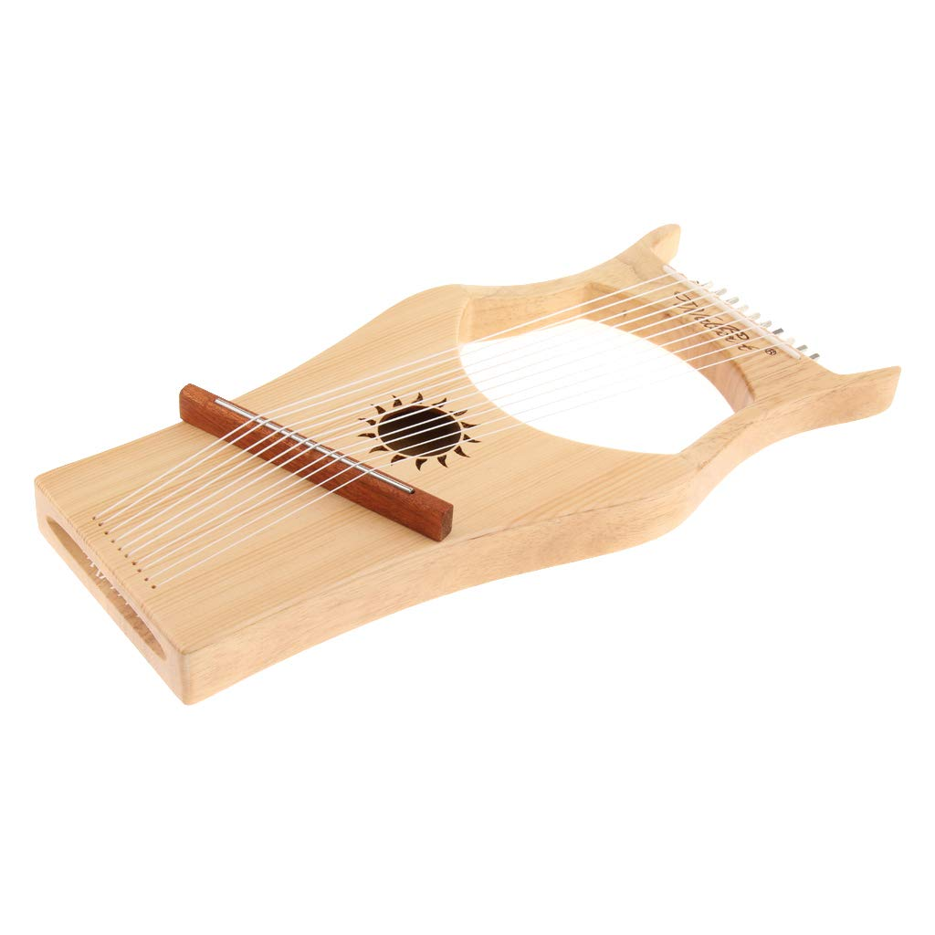 Homyl 10 Strings Harp Lyre Harfe with Tuning Wrench, Carrying Bag