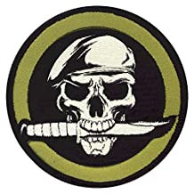 72194 Rothco Military Skull & Knife Patch
