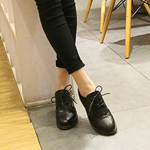 Scarpe Donna Donna Xianshu Xianshu Stringate Scarpe Stringate Black 6qBYw