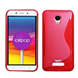 Heartly Thin Premium S-Line Soft Flexible TPU Matte Rugged Bumper Back Case Cover For Micromax Canvas Doodle 4 Q391 Dual Sim - Hot Red
