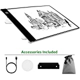 Portable Light Box, A4 Ultra-thin Drawing Tracer Light Pad Box Tracer with USB Power Artcraft Light Table for Artists/Drawing/Sketching Animation /Designing/X-ray Viewing