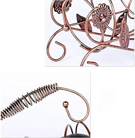 AZHom Vino Rack Moderna decoración casera de Vino Botellas titulares de Estilo Europeo Creativo del Hierro del Metal portátil Gabinete Vino Sala Tabla Pantalla- L27xH22.5cm (Color: Bronce)