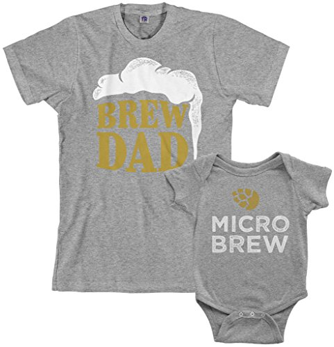 Threadrock Brew Dad & Micro Brew Infant Bodysuit & Men's...