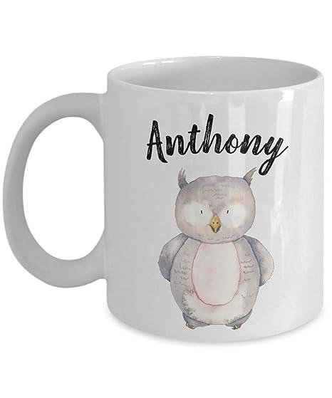 1ce5debe925e8 Amazon.com: MyFaveGift Custom Personalized Name Owl Cute Coffee Mug ...