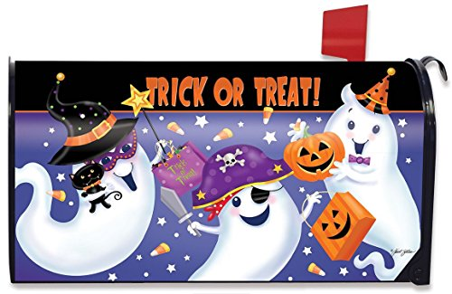- Briarwood Lane Trick or Treat Halloween Mailbox Cover Ghosts Candy Jack O'Lantern Standard