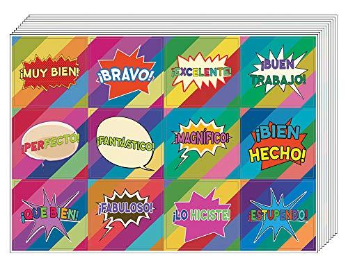 Creanoso - Pegatinas de recompensa motivacional (10 hojas) - recompensas motivacionales para regalar incitaciones para niños, niños, adolescentes, niños, ...
