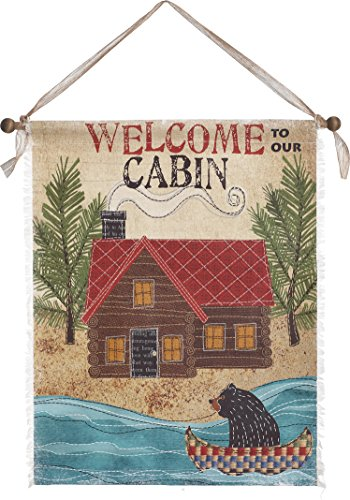 Cabin Wall Hanging - Transpac Canvas Welcome to Our Cabin Wall Art, Large
