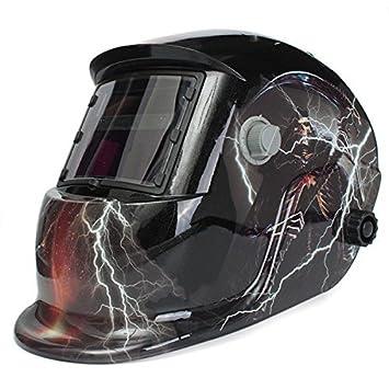 philmat Calavera Dios con Lightning Solar Auto oscurecimiento soldador máscara casco electrowelding Soldadura Tig Mig máscara: Amazon.es: Electrónica