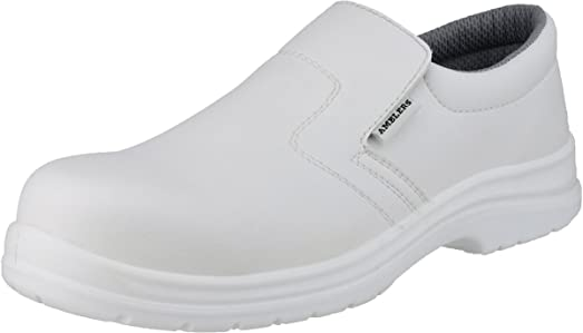 Amblers Safety Mens FS510 Slip On Waterproof Safety Shoes White Hh8CihHsm