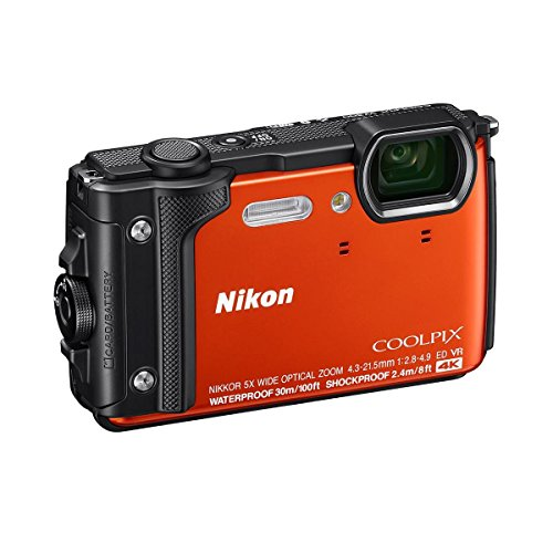 Nikon Coolpix W300 Point & Shoot Camera, Orange - Bundle with 16GB SDHC Card, Camera Case, Cleaning Kit, Software Package