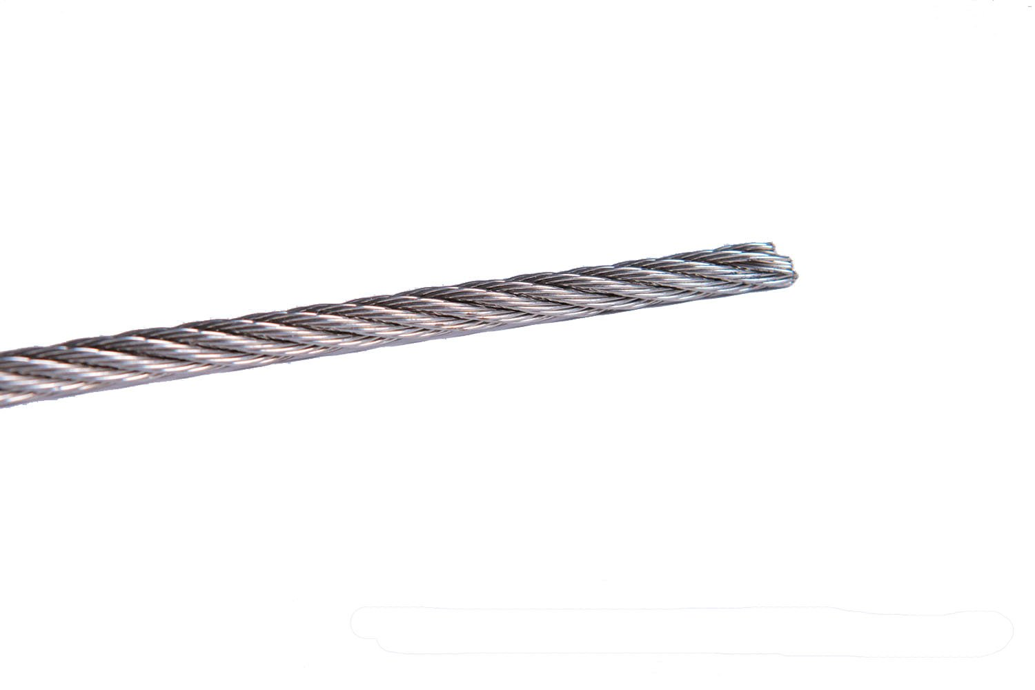 5/32'' 7x7 Stainless Steel T316 Cable Railing Cable with Medium Flexibility (250-Foot Spool)