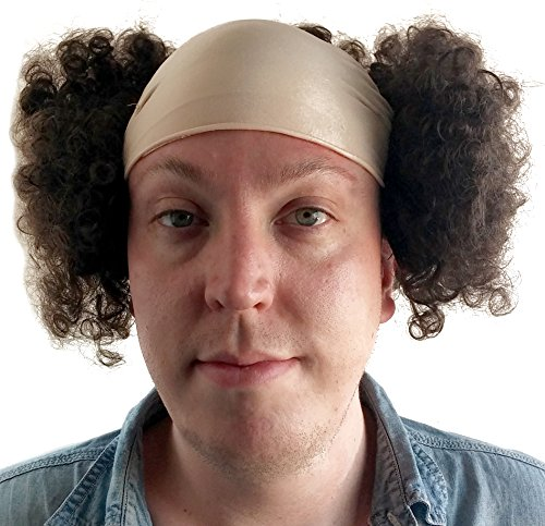 Larry Three Stooges Wig Bald Curly Brown Wig for Men by City Costume Wigs (Image #3)