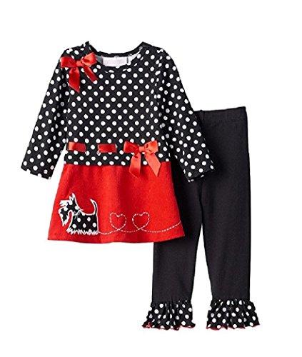Scotty Dog Leggings - Bonnie Jean Baby Girls Scottie Dog Top & Leggings Set,4T