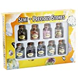 SUNYIK 9 Mini Gemstone Bottles Chip Crystal Healing