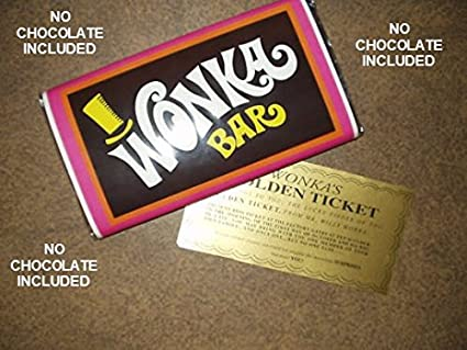 Amazon Com 7 Ounce Sized Willy Wonka Chocolate Bar Wrapper And