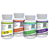 Cheap Yes You Can! Diet Plan Transformation Supplement Kit with Fat Burner, Collagen, Colon Cleanser and Detox – 30 Capsules Each Bottle and 21 Capsules Detox – 1 Month