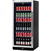 Beverage Cooler Beer Cooler- Upright Stainless Steel Beer Fridge, 300 Cans 5 Chromed Steel Shelves – Ideal Beer and Beverage Refrigerator for Bars, Restaurants, Game Room