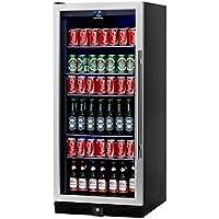 Beverage Cooler Beer Cooler- Upright Stainless Steel Beer Fridge, 300 Cans 5 Chromed Steel Shelves – Ideal Beer and Beverage Refrigerator for Bars, Restaurants, Game Room