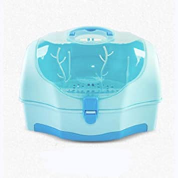 XISHU Caja de almacenamiento para botellas de leche para bebés Envase Botella Cajas de acabado Con cubierta anti-polvo , blue: Amazon.es: Deportes y aire ...