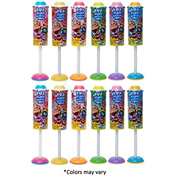 Pop-a-Lotz Surprise Pops (Party 12-Pack) by Jay at Play: Fun-filled Surprise Pops Unbox with a Push & a Pop to Reveal a Blind Bag Explosion of Fun–Party Favors, Showers, Birthday, Easter Gifts