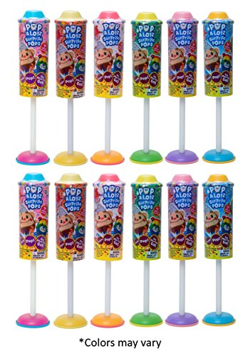 Pop-a-Lotz Surprise Pops (Party 12-Pack) by Jay at Play: Fun-filled Surprise Pops Unbox with a Push & a Pop to Reveal a Blind Bag Explosion of Fun–Party Favors, Showers, Birthday, Easter Gifts by Pop-a-Lotz