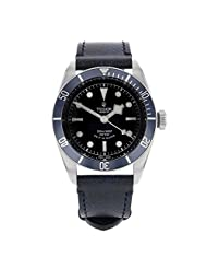 Tudor Black Bay Heritage Automatic Black Dial Brown Aged Leather Mens Watch 79220B-BKSLS by Tudor
