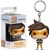 Funko Tracer Pocket POP! x Overwatch Mini-Figural Keychain + 1 Free Video Games Themed Trading Card Bundle (14312)