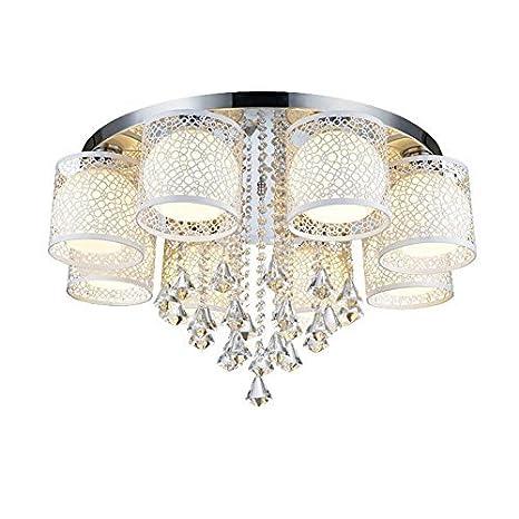 WBR Lámpara de techo LED lámpara de cristal salón luces ...