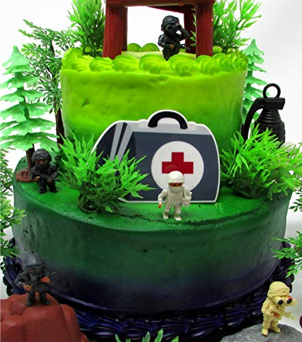 Battle Crusade Survival Royale Gaming Themed Cake Topper with Battle Figures and Resource Themed Accessories by Cake Toppers (Image #2)