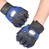 Dreamyth Gym Body Building Training Gloves Sports Weight Lifting Workout Exercise (Blue)