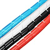 2M Spiral Wire Wrap Tube Manage Cord for PC Computer Home Cable 4-50MM.