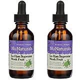 NuNaturals Pure Liquid Lo Han Supreme, 2 Ounces (Pack of 2)