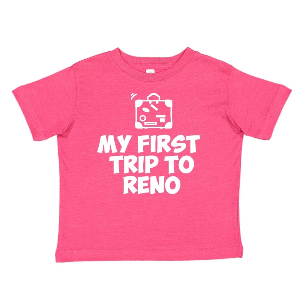 Toddler//Kids Short Sleeve T-Shirt Mashed Clothing My First Trip to Reno