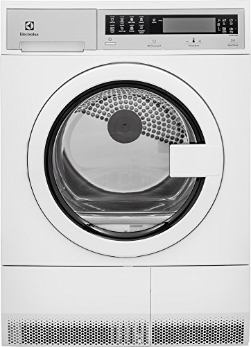 Electrolux EIED200QSW 24″ Compact Front Load Electric Dryer with 4.0 cu. ft. Capacity Stainless Steel Tub 7 Drying Cycles 4 Temperature Settings Delay Start Reversible Door and LED