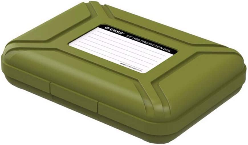 a Prueba de Polvo antiest/ático a Prueba de Golpes Turbobm Estuche Protector de Disco Duro de 3.5 Pulgadas Caja Protectora HDD//Estuche de Almacenamiento