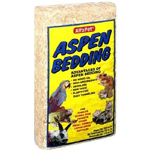 Alphapet: Aspen 1500 Cu. In. Bedding for Rabbits, Guinea Pigs, Ferrets, Other Small Animals, Large Birds, Reptiles
