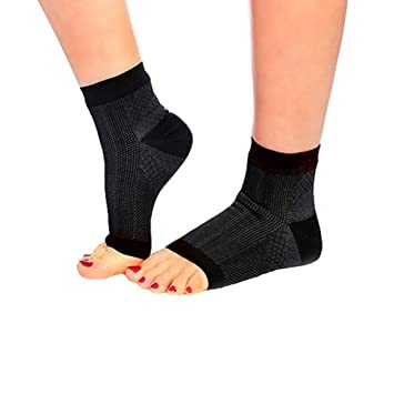 8a5e16bf5f Ehdching 1 Pair Open Toe Ankle Brace Compression Socks Foot Angel Ankle  Sleeve Anti Fatigue Swelling