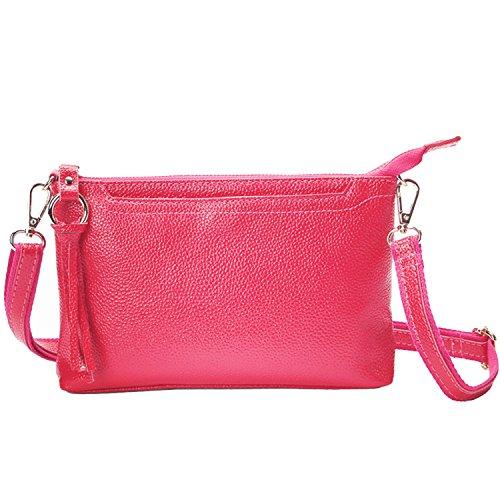 Bag Wallet Crossbody Rose Casual Red Shoulder Clutch Bag Leather Purse Lightweight Handbag NOTAG EaHqO
