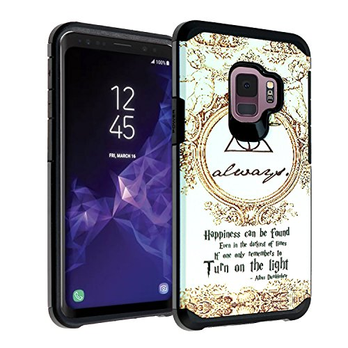 Galaxy S9 Harry Potter Deathly Hallows Case, DURARMOR Dual Layer Hybrid ShockProof Slim Fit Armor Cover for Galaxy S9 (2018) Always