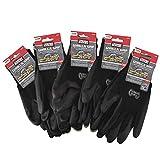 Grease Monkey Gorilla Grip Slip Resistant All Purpose Work Gloves 5 Pack (X-Large)