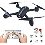 Amazingbuy WIFI APP Control FPV GPS Positioning Camera Drone, JXD 528 720P HD Camera 20 Waypoint Plan Flying RC Quadcopter Altitude Hold / One-key Taking Off / Landing (Black)