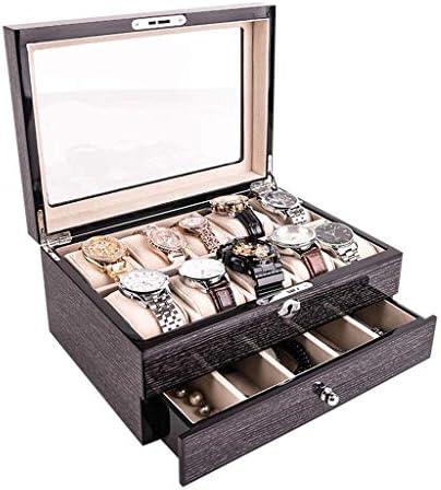 SBSNH ストレージボックス-ロックジュエリーストレージボックス付きソリッドウッドウォッチボックスウォッチコレクションボックス