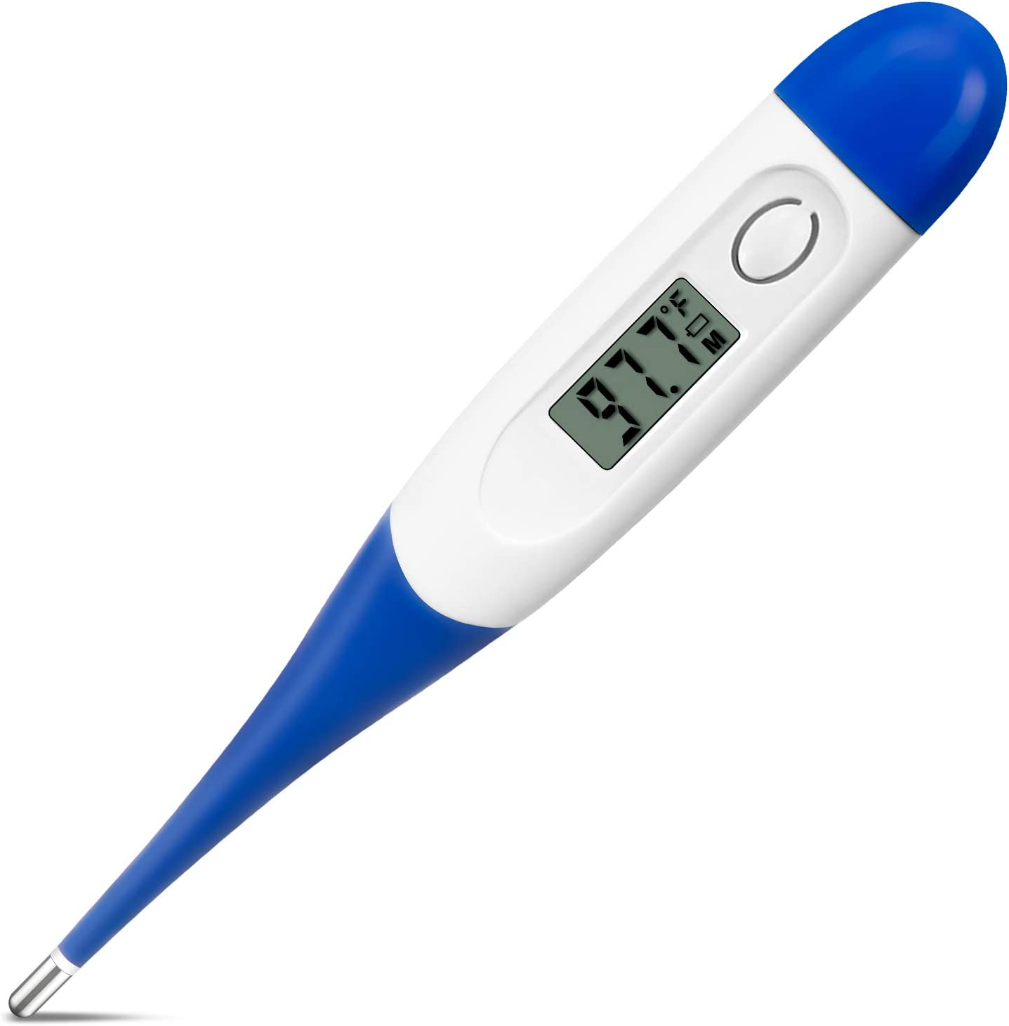 Digital Thermometer for Adults, Anzoee Oral Thermometer Accurate 60 Seconds Instant Reading Waterproof Mercury-Free Basal Thermometers for Body Underarm Rectal for Child Kids Baby Pets (in Fahrenheit)