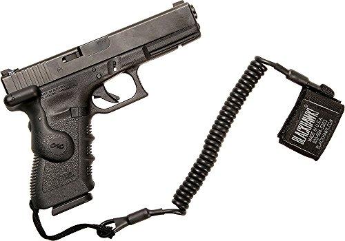 BLACKHAWK! 90TPL1BK Pistol Lanyard Coiled Tactical