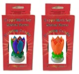 Neat Birthday Candle Exciting Birthday Candle 2 Pack (Rainbow and Orange)