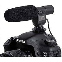 CEARI SG-108 Professional 3.5mm Stereo Shotgun Microphone for Nikon 7100D 610D 5100D D300s D3s Canon 5D, 5D Mark II, 5D Mark III, 1D Mark IV DSLR Camera DV Camcorder + MicroFiber Clean Cloth
