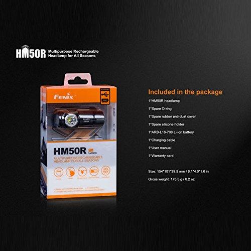 Fenix HM50R XM-L2 U2 500LM 16340 Rechargable LED Headlight by LEEPRA (Image #2)