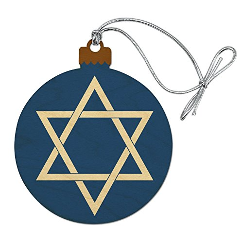 Graphics and More Star of David Jewish Israel Ancient Religion Symbol Wood Christmas Tree Holiday Ornament