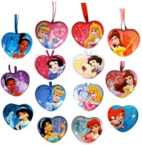 (14 Disney Princess Lockets Heart Shape Keepsake Lockets - Fun Party Favors)